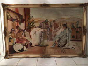 Rare Tapestry of Queen Esther & King Xerxes Story from Israel