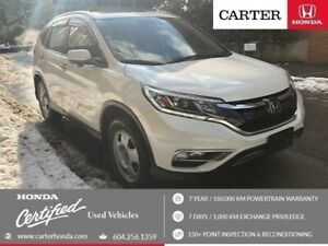 2015 Honda CR-V Touring + CERTIFIED + LEATHER + NAVI!