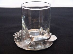 "Seagull Pewter  ""Fine Pewter Candle Holder With Frog"" London Ontario image 2"