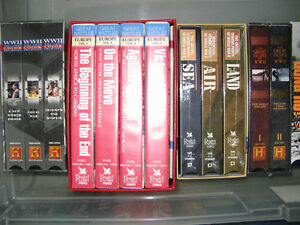 VHS tapes - many military/war series