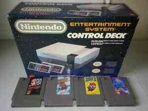 NES compete in box with 4 games