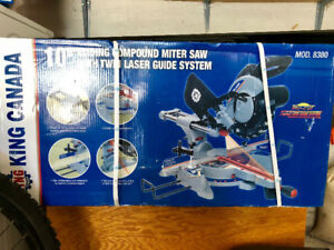 "10"" Sliding Compound Miter Saw w/ Twin Laser (box never opened)"