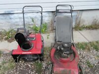 LAWN MOWER SNOW BLOWER 3 WEED WHACKERS