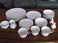 "Royal Albert ""Val D'Or"" Bone China-45pc-Free Shipping In BC/AB"