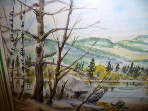 """Kurt Maurer """"Laurentian Spring"""" 1978 Original Vintage Watercolor Stratford Kitchener Area image 9"""