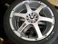 "Aluminum17""  Enkie Rs6 Rims and Goodyear eagle rs-a tires"