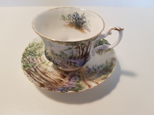 tasse et soucoupe royal albert country scenes bluebell wood