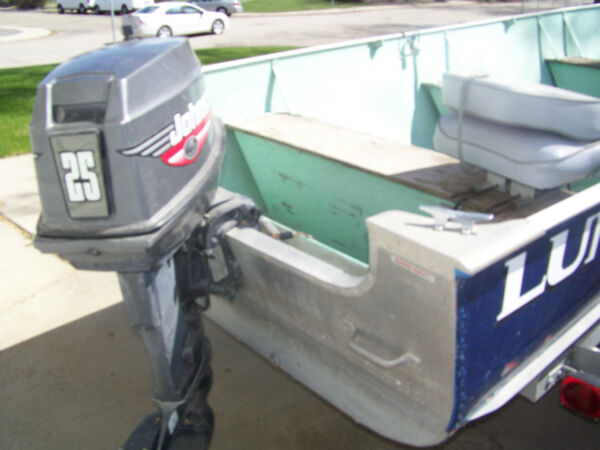 Used 1999 Lund Boat Co 16 Ft. Lund Boat with 25 HP Johnson Motor and Trai