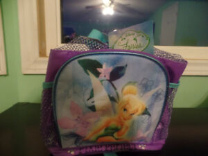 New, never used - Disney Tinkerbell backpack and pencil case