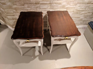 Matching Pair of Refinished End Tables
