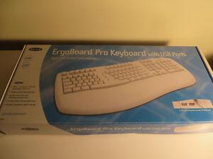 Microsoft USB Ergonomic Keyboard - Full Size, Light Beige