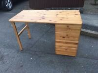 PINE DRESSING TABLE/ DESK ** FREE DELIVERY AVAILABLE MONDAY NIGHT **