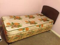 Single bed Headboard and mattress