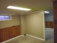 One Bedroom Basement Apartment is Available Now
