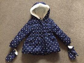 Girls Blue Coat - 2 - 3 years