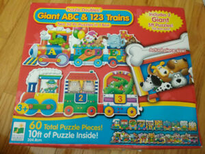 Giant ABC & 123 Train Floor Puzzles/Infantino Word Puzzle