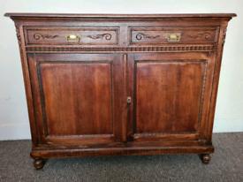 Heavy wood cabinet