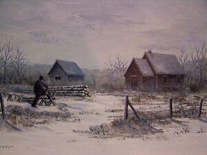Vintage Prairie Oil Painting by John Epp