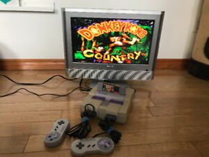 Super Nintendo with Donkey Kong Country