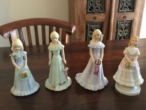 Ceramic Growing Up Birthday Dolls by Enesco  (age baby to 16 yrs