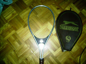 SLAZENGER OS ( OVER-SIZED ) TENNIS RACKET AND PROTECTIVE CASE