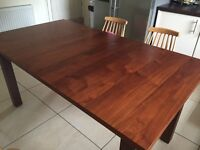 Wooden veneer extending large dining table REDUCED FOR QUICK SALE