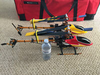 2 helicopter package ready to fly  500$