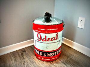 Bidon huile a moteur ideal vintage ***extremement RARE ****