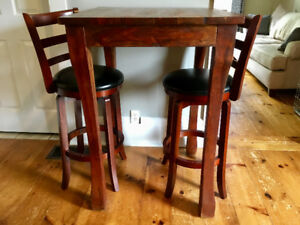 Solid wood bistro dining table and chairs $275 OBO