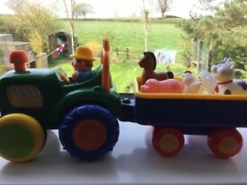Old Mac Donald action tractor and trailer