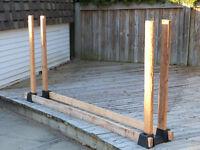 Adjustable Firewood Log Rack