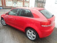 Audi A3 TDI SE (brilliant red) 2007