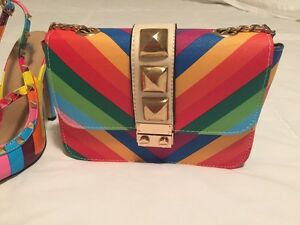 Rainbow shoes and purse / Valentino inspired Oakville / Halton Region Toronto (GTA) image 2