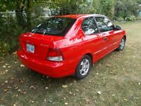 2002 Accent low milage 1700 as is