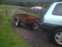 Goods trailer 7x4 approx excellent condition £425.00 Ono.
