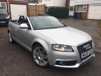 Audi A3 2.0 TDI S Line Cabriolet 2009, 50,000 Miles, FULLY LOADED, HPI Clear