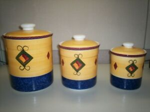 Beautiful Living Art Loreto Hand Painted kitchen canister set.