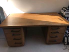 Mid Century Modern Oak Desk