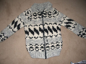 Cowichan Sweater with front zipper - Brand New