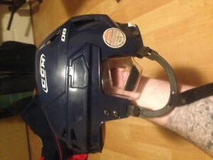 Small Ccm blue hockey helmet