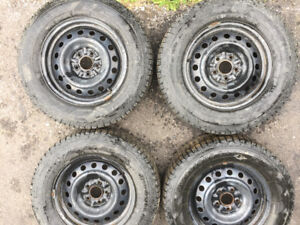 Winter Studded Tires on Rims