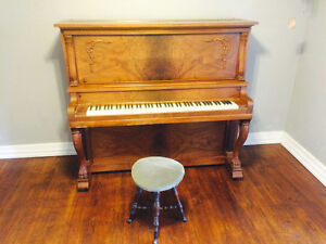 Upright Solid Wood Antique Piano