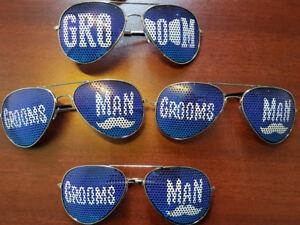 4 paires de lunettes de soleil pour Groom / Mariage / Party