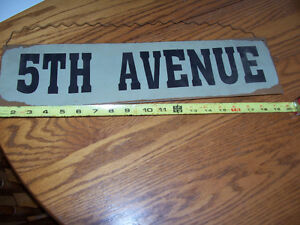 Metal 5th Ave Sign