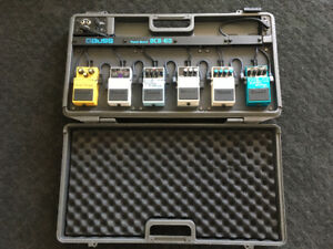 Boss BCB-06 Pedal Board and 6 Boss Pedals