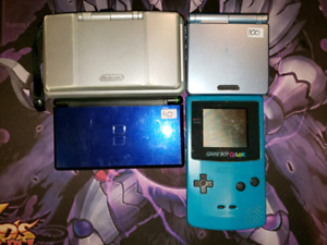 DS lite, GBA SP 101 for sale.  GBA and GBC games.