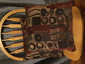 Two print cushions - Wolfville