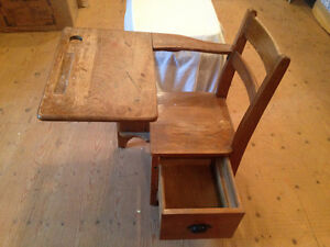 Wooden desk from one room schoolhouse Stratford Kitchener Area image 2
