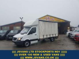 2013 63 MERCEDES-BENZ SPRINTER CURTAINSIDER + LUTON + TAILIFT + AIR