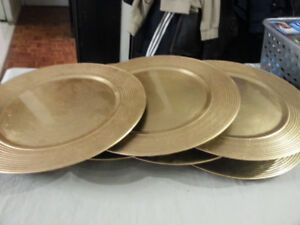 Sets of Silver & Gold Dinner Plate Chargers - $20/set